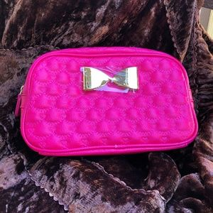 💋NEW! Betsey Johnson Bright Pink Cosmetic Bag